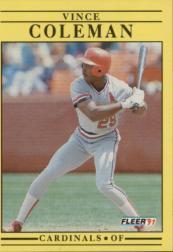 1991 Fleer #629 Vince Coleman