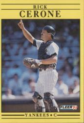 1991 Fleer #660 Rick Cerone