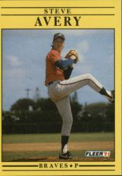 1991 Fleer #681 Steve Avery UER/Born in New Jersey,/should say Michigan
