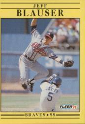 1991 Fleer #683 Jeff Blauser
