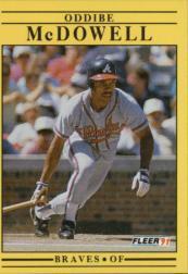 1991 Fleer #697 Oddibe McDowell