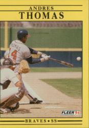 1991 Fleer #705 Mike Stanton