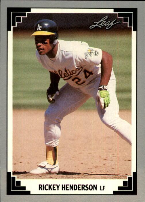 1991 Leaf #101 Rickey Henderson