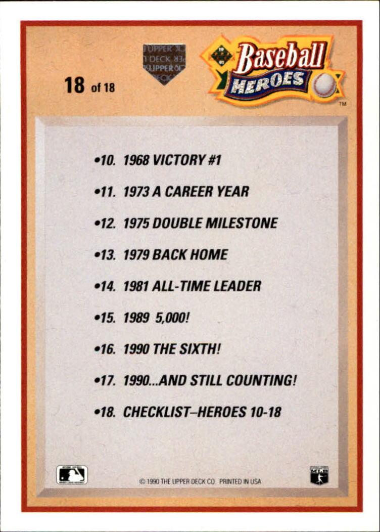1991 Upper Deck Ryan Heroes #18 Nolan Ryan CL back image