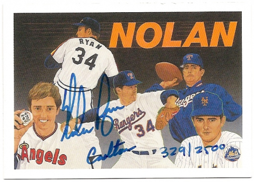 1991 Upper Deck Ryan Heroes #AU2 Nolan Ryan AU/2500