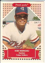 1991-92 ProCards Tomorrow's Heroes #153 Ivan Rodriguez