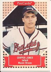 1991-92 ProCards Tomorrow's Heroes #190 Chipper Jones