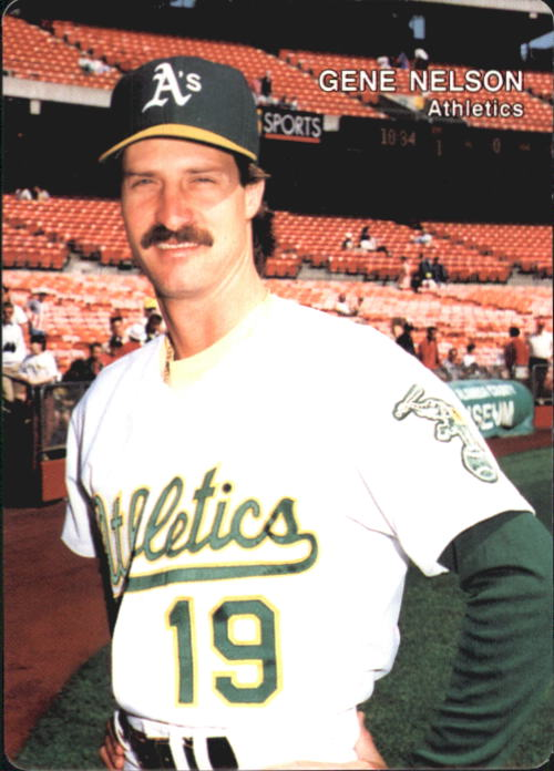 1992 A's Mother's #22 Gene Nelson