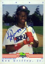 1992 Classic/Best Autographs #AU1 Ken Griffey Jr./3100