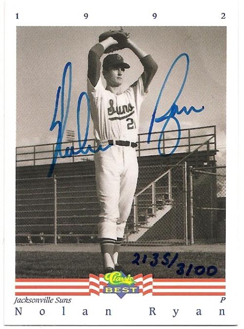1992 Classic/Best Autographs #AU3 Nolan Ryan/3100