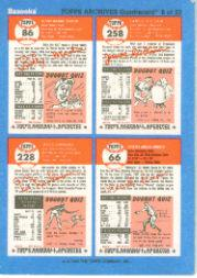 1992 Bazooka Quadracard '53 Archives #8 Jim Gilliam/Billy Martin/Minnie Minoso/Hal Newh back image
