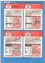 1992 Bazooka Quadracard '53 Archives #13 Joe Black/Lew Burdette/Johnny Pesky/Enos Slaugh back image