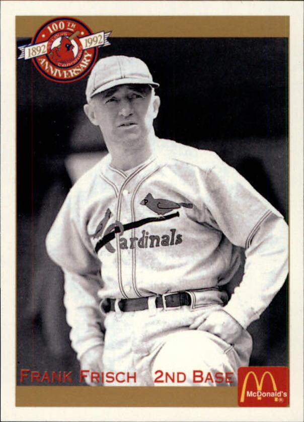 1992 Cardinals McDonald's/Pacific #7 Frank Frisch