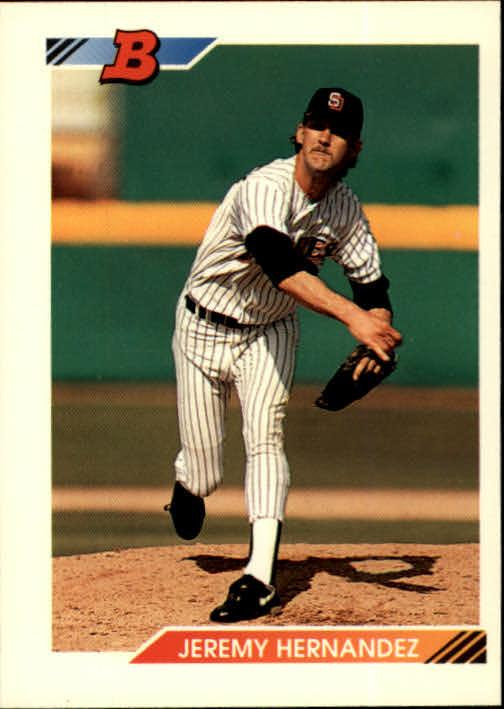 1992 Bowman #73 Jeremy Hernandez RC