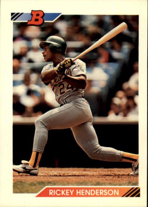 1992 Bowman #166 Rickey Henderson