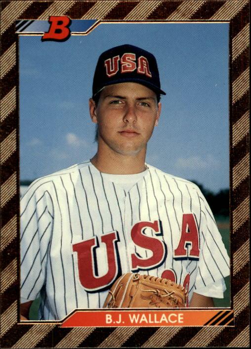 1992 Bowman #554 B.J.Wallace FOIL RC