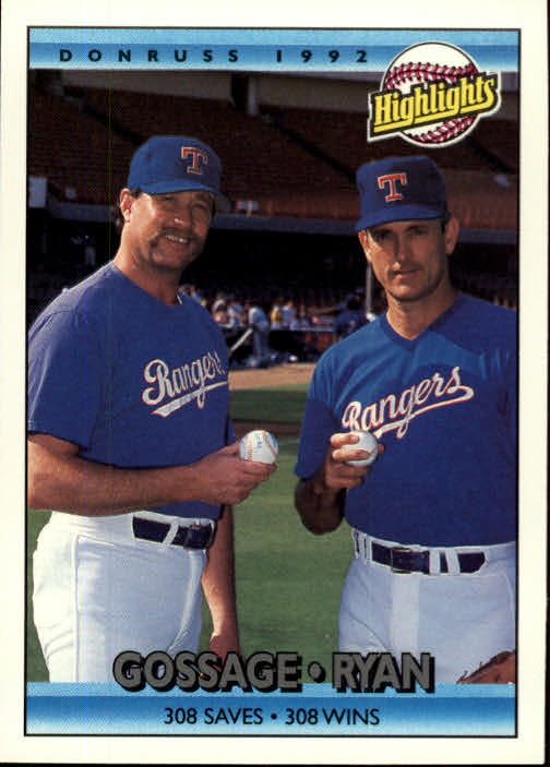 1992 Donruss #555 N.Ryan/G.Gossage HL