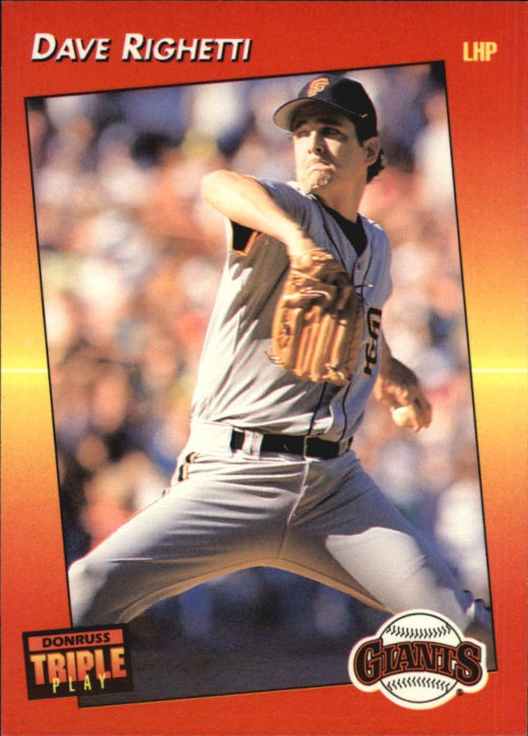 1992 Triple Play #23 Dave Righetti