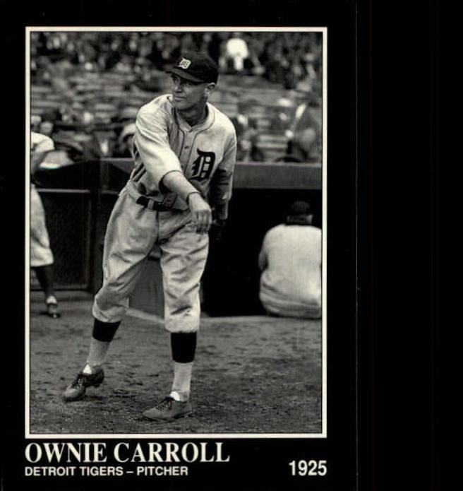 1992 Conlon TSN #496 Ownie Carroll