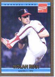 1992 Donruss Coke Ryan #10 Nolan Ryan/1976 CA