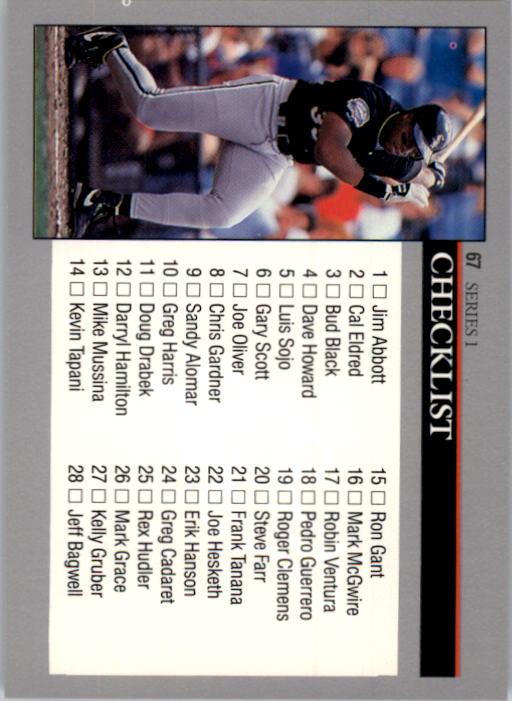 1992 Leaf #67 Frank Thomas CL back image