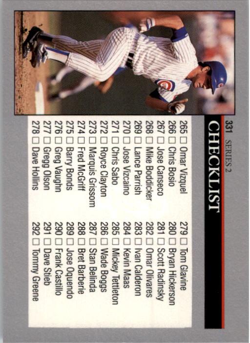1992 Leaf #331 Ryne Sandberg CL back image
