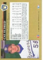 1992 Leaf Black Gold #2 Cal Eldred back image