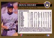 1992 Leaf Black Gold #80 Doug Henry back image