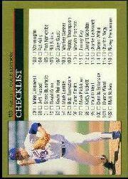 1992 Leaf Black Gold #133 Checklist 89-176/Nolan Ryan