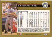 1992 Leaf Black Gold #399 Kevin Seitzer back image