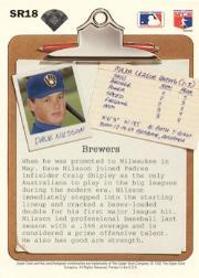 1992 Upper Deck Scouting Report #SR18 Dave Nilsson back image