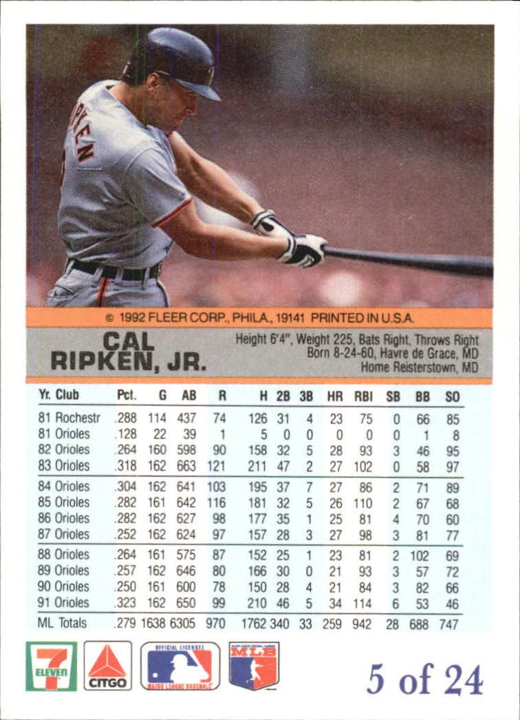 1992 Fleer All-Stars Citgo Lumber Inserts Buy 10 You Pick cards F.S.