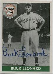 1992 Front Row Buck Leonard #1AU Buck Leonard AU