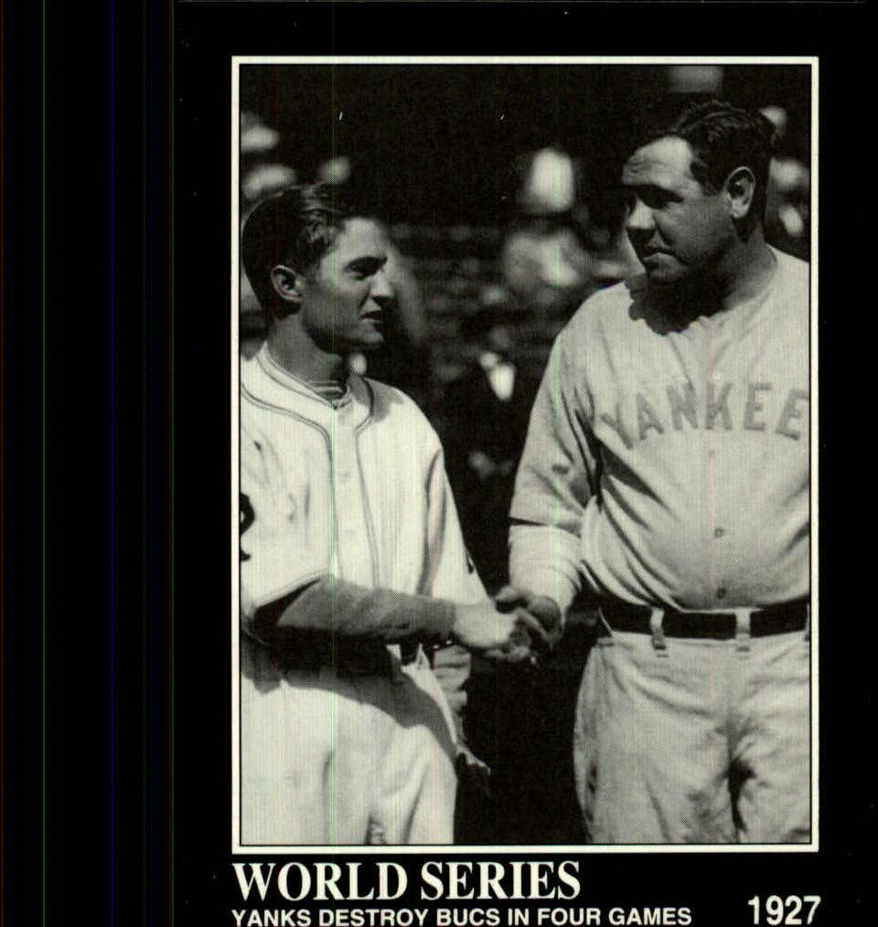 1992 Megacards Ruth #37 Yanks Destroy Bucs in/Four Games 1927