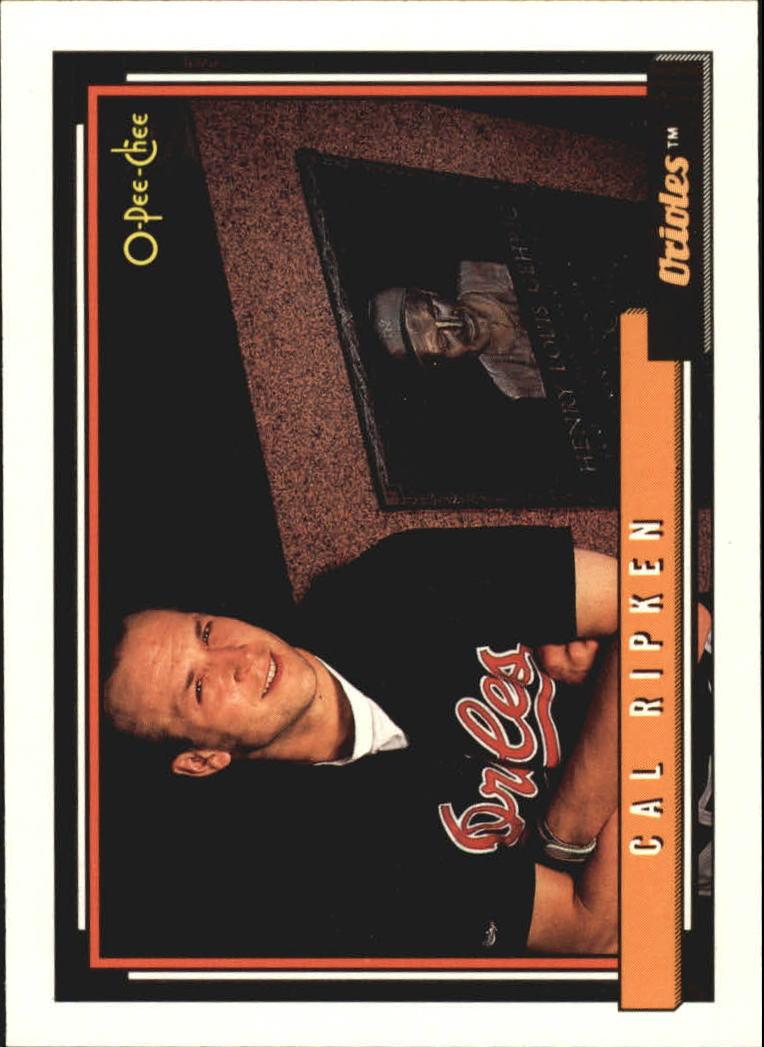 1992 O-Pee-Chee #40 Cal Ripken/Lou Gehrig