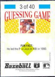 1992 Panini Stickers #6 Luis Sojo back image
