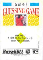 1992 Panini Stickers #11 Mark Langston back image