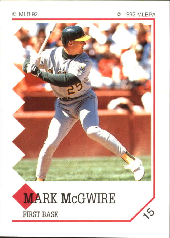 1992 Panini Stickers #15 Mark McGwire