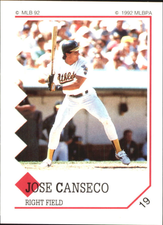1992 Panini Stickers #19 Jose Canseco