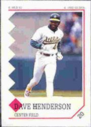 1992 Panini Stickers #20 Dave Henderson