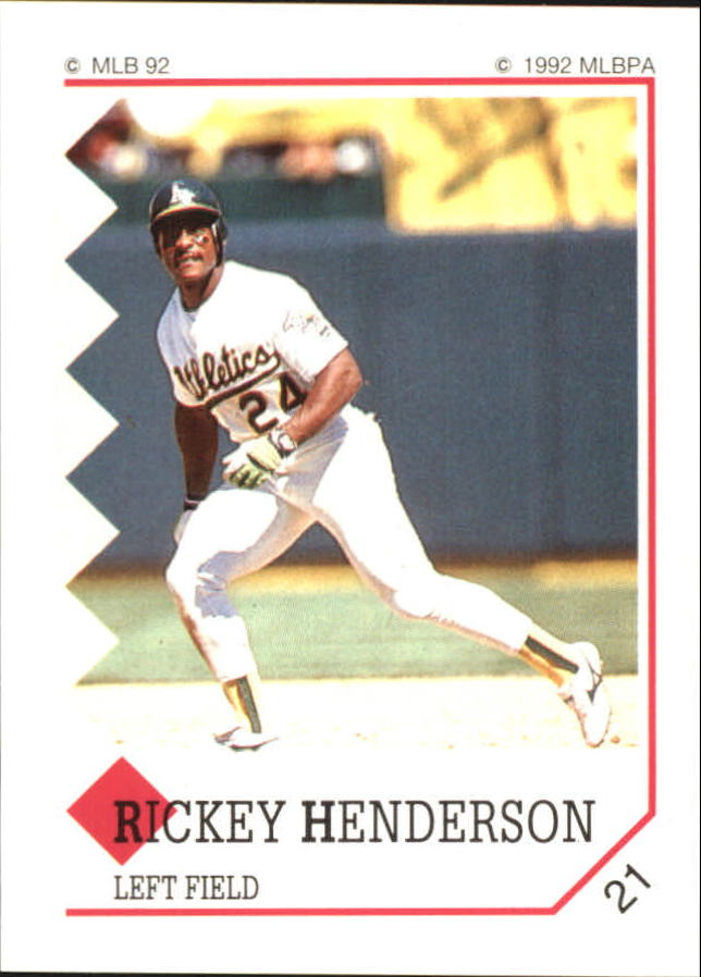 1992 Panini Stickers #21 Rickey Henderson