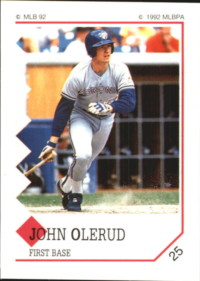 1992 Panini Stickers #25 John Olerud
