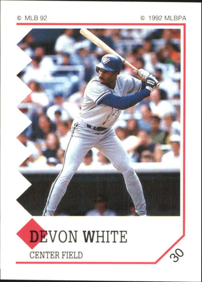 1992 Panini Stickers #30 Devon White