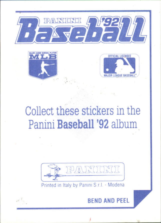 1992 Panini Stickers #33 Blue Jays Team Logo back image