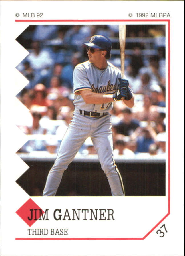 1992 Panini Stickers #37 Jim Gantner