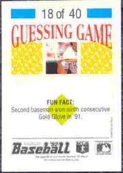 1992 Panini Stickers #39 Dante Bichette back image