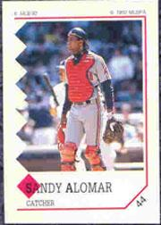 1992 Panini Stickers #44 Sandy Alomar Jr.