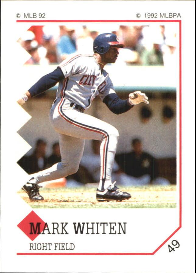 1992 Panini Stickers #49 Mark Whiten