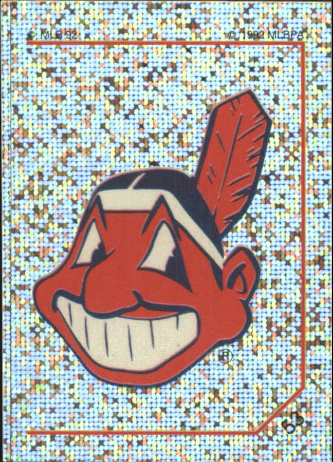1992 Panini Stickers #53 Indians Team Logo