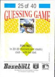 1992 Panini Stickers #56 Harold Reynolds back image
